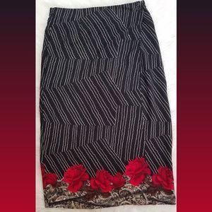 Sag Harbor Floral Wrap Skirt Size 16